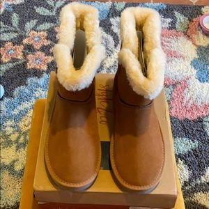 STYLE & CO Faux Fur Lined Suede Boots Size 11  NWT